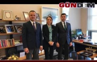 Başkanlar Oruç'u ziyaret etti