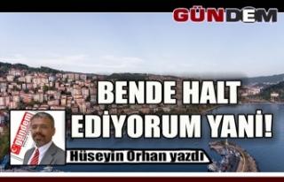 BENDE HALT EDİYORUM YANİ!