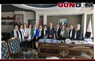 CHP Kadın Kolları ziyaretlerde..