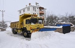 Karabük'te 44 kapalı köy yolu için çalışmalar...