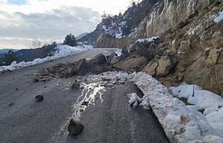 Karabük'te yağışlar sonrası heyelanlar meydana...