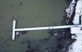 Kuş cenneti Efteni Gölü Drone ile görüntülendi