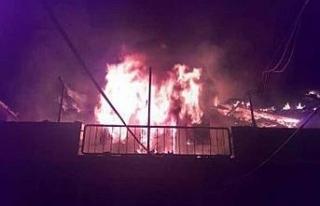 Safranbolu'da çıkan yangında bir ev kül oldu