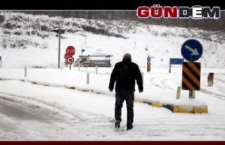 Zonguldak'ta 148 köy yolu ulaşıma kapandı