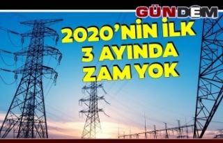 2020 yılının ilk 3 ayında elektriğe zam yok...