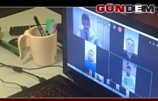 AK Parti İl yönetimi video konferans sistemi ile...