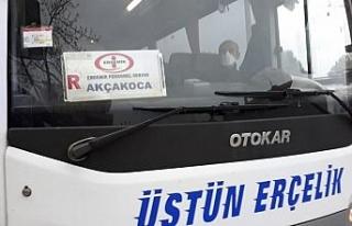 Akçakoca'da polisten otobüslerde korona virüs...