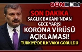 Türkiye'de ilk corona virüsü vakası...