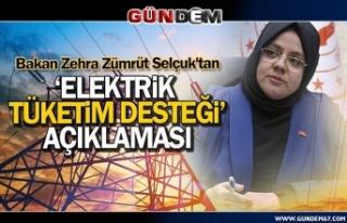 Bakan Selçuk'tan 'Elektrik Tüketim Desteği'...