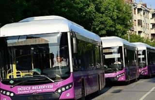 Düzce'de halk otobüsleri sefer saatlerinde yeni...