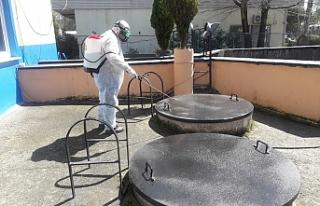 Kanalizasyon terfi istasyonları dezenfekte edildi...