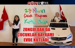 Zonguldak'da çocuklar bayramı evde kutladılar