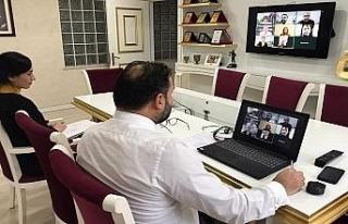 ZONSİAD yönetimi telekonferans görüşmelerinde...