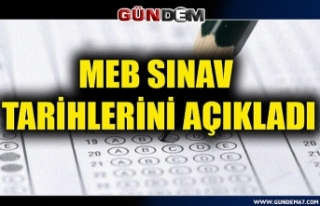 Açık Öğretim Kurumları sınavlarının tarihleri...