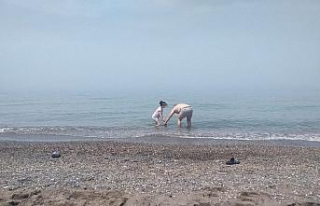 Güneşli havayı fırsat bilen aileler sahillere...