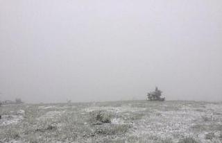 Karabük'ün yüksek kesimlerinde kar yağışı...