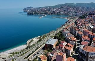 Kısıtlamaya uyan Zonguldaklılar evde kaldı