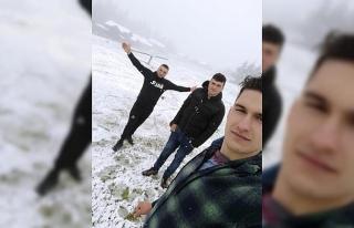 Mayıs ayında Düzce'ye kar yağdı