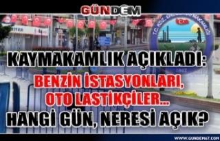 Ereğli'de açık olacak akaryakıt istasyonları...
