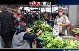 Yasak bitti vatandaş pazara koştu!...