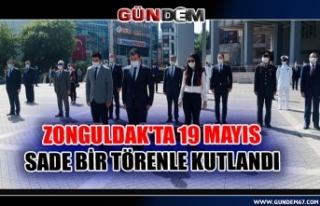 Zonguldak'ta 19 Mayıs sade bir törenle kutlandı