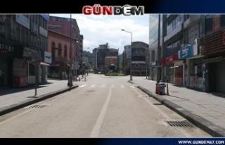 Zonguldak'ta sokağa çıkma kısıtlamasında...