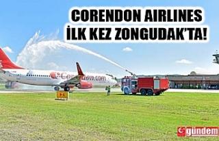 CORENDON AIRLINES ZONGULDAK'A İLK KEZ İNİŞ...