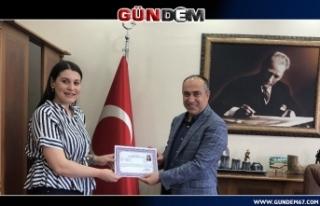 Kaymakam Vekili Altay'dan personele başarı belgesi