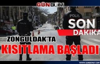Zonguldak'ta kısıtlama başladı...