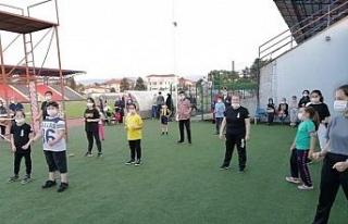 Stadyumda Wushu antrenmanı yaptılar