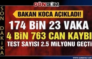 Türkiye'de koronavirüsten can kaybı 4 bin...