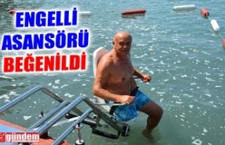 KDZ. EREĞLİ BARIŞ PLAJI'NDA ENGELLİ ASANSÖRÜ...