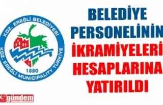 BELEDİYE PERSONELİNİN İKRAMİYELERİ HESAPLARINA...