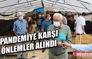 BELEDİYENİN KURBAN PAZARINDA TÜM ÖNLEMLER ALINDI