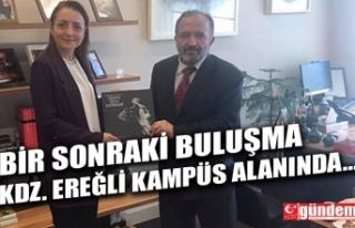 BEÜ REKTÖRÜ ÇUFALI'DAN, BAŞDANIŞMAN ORUÇ'A...