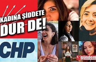 CHP KADIN KOLLARI İLÇE BAŞKANI BİNGÖL, TEPKİSİNİ...