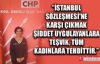 CHP KDZ. EREĞLİ KADIN KOLLARI BAŞKANI'NDAN...
