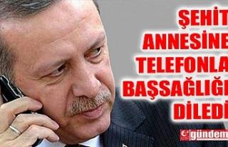 CUMHURBAŞKANI ERDOĞAN TELEFONLA ARAYARAK BAŞ SAĞLIĞI...