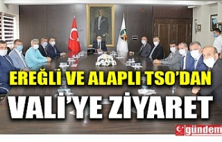EREĞLİ VE ALAPLI TSO'DAN VALİ TUTULMAZ'A...