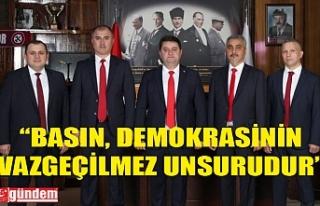 GMİS GENEL BAŞKANI YEŞİL'İN GAZETECİLER...