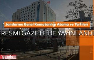 JANDARMA VE SAHİL GÜVENLİK KOMUTANLIĞINDAKİ ATAMA,...