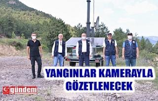 KARABÜK'TE KAMERALI MOBİL YANGIN GÖZETLEME...