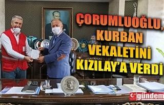 KAYMAKAM ÇORUMLUOĞLU, KURBAN VEKALETİNİ KIZILAY'A...