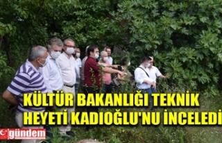 KÜLTÜR BAKANLIĞI TEKNİK HEYETİ KADIOĞLU'NU...