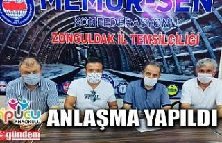 MEMUR-SEN İLE ÖZEL İPUCU ANAOKULU ARASINDA ANLAŞMA...