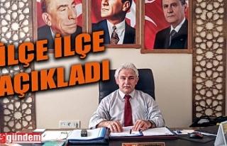 MHP'NİN İLÇE İLÇE KONGRE TAKVİMİ...