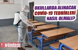 OKULLARDA COVİD-19 TEDBİRLERİ NASIL OLMALI?