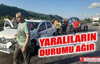 OTOMOBİL İLE TARIM ARACI ÇARPIŞTI: YARALILARIN...