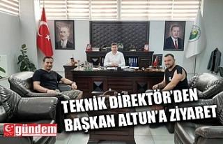 TEKNİK DİREKTÖR PENBE'DEN BAŞKAN ALTUN'A...