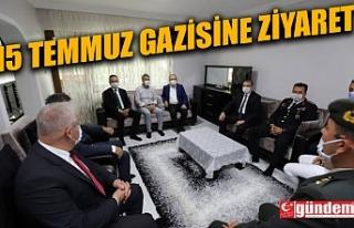 VALİ TUTULMAZ, 15 TEMMUZ GAZİSİ MADENCİ'Yİ...